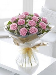 Heavenly Pink Rose Hand-tied
