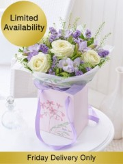 Mother's Day Rose and Freesia Gift Bag