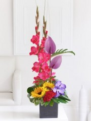 Summer Orchid and Gladioli Arrangement