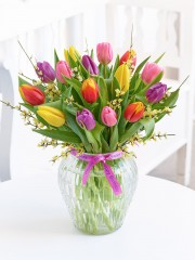 Happy Birthday Tulip Delight Vase