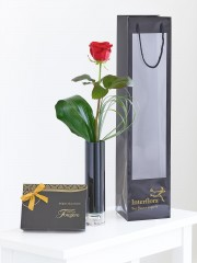 Single Red Rose Gift Set
