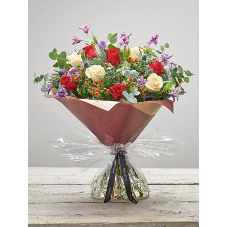 Large Berry Rose Hand-tied