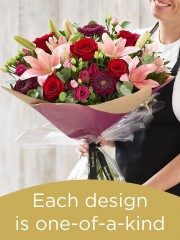 Hand-tied made with the finest flowers