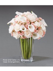 Rose and Calla Lily Vase Arrangement