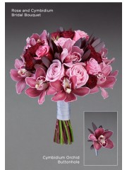 Rose and Cymbidium Bridal Bouquet