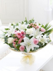 Orchid, Lily and Rose Hand-tied