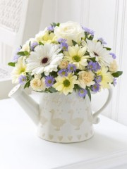 Little Duckling Watering Can - Blue and Cream